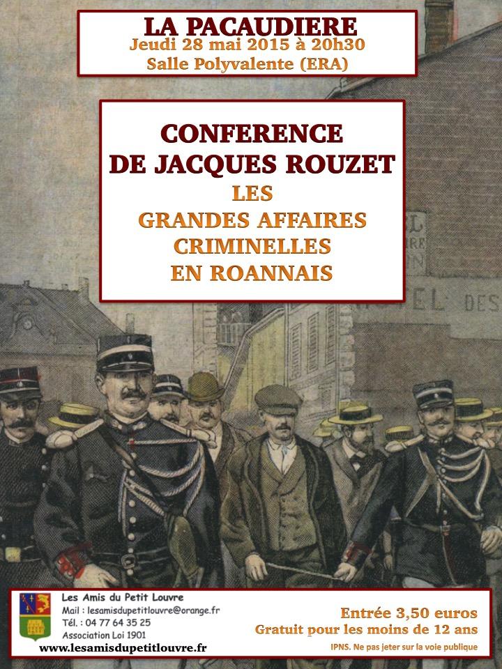 Conférence Jacques Rouzet