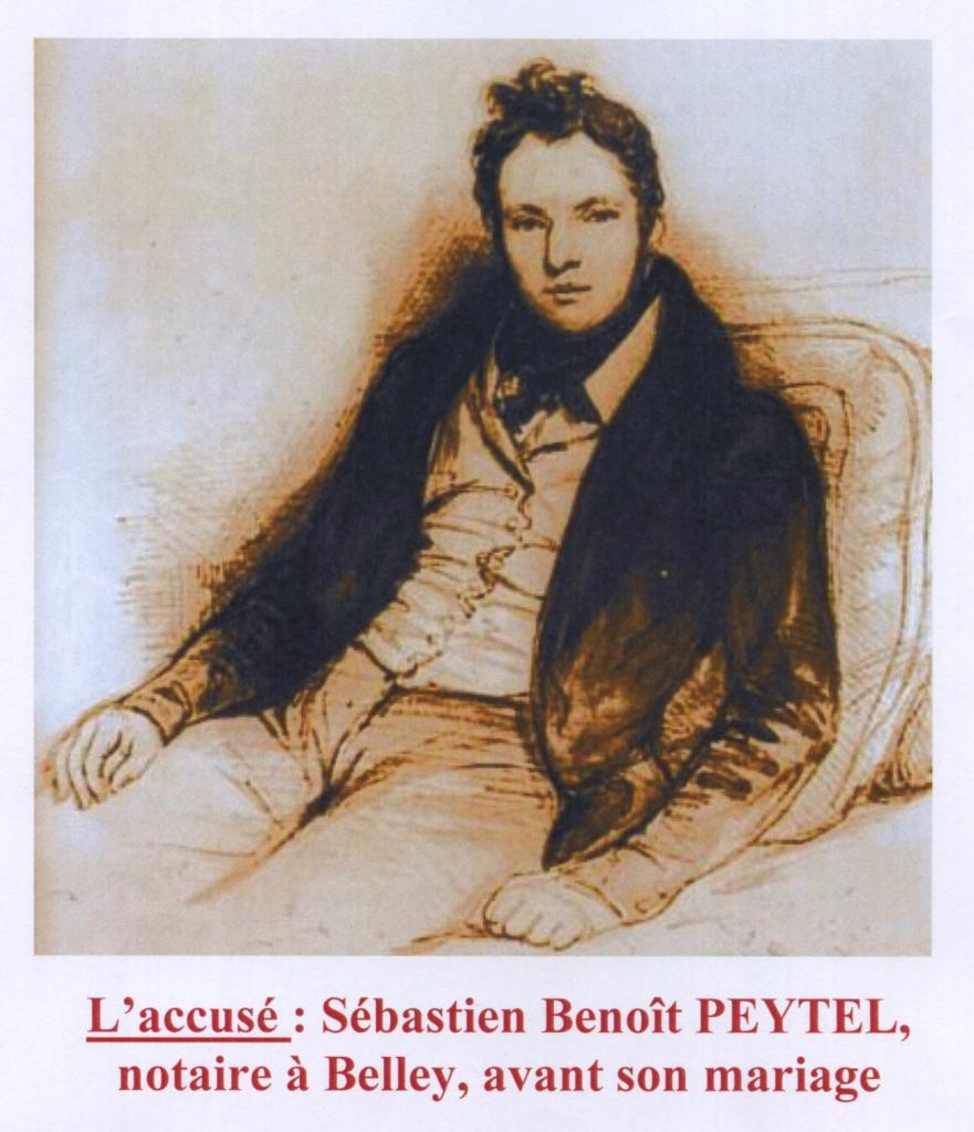Sébastien Peytel (gravure de l'accusé)