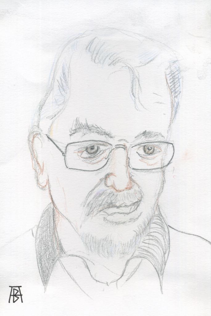 Caricature reconstitution procès Peytel (Alain Buterlin)