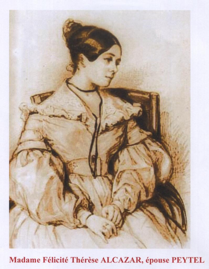 Félicité Alcazar, épouse Peytel (gravure de la victime)