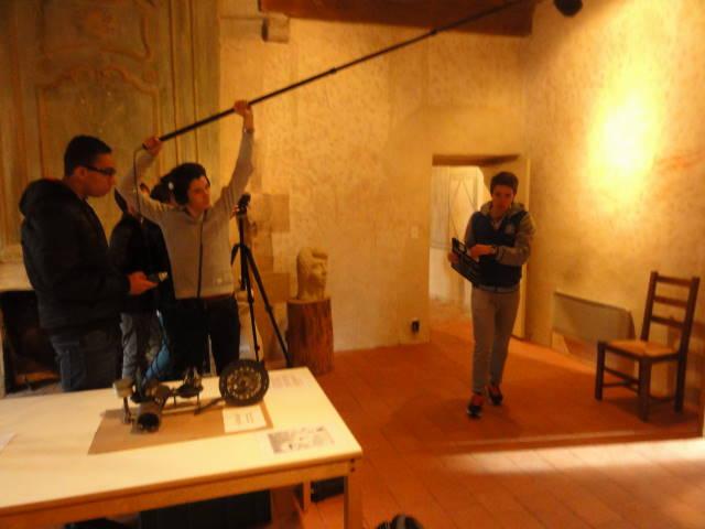 Tournage d'une scène d'un film d'animation par les élèves de Carnot pour le festival Ciné Court Animé 2017