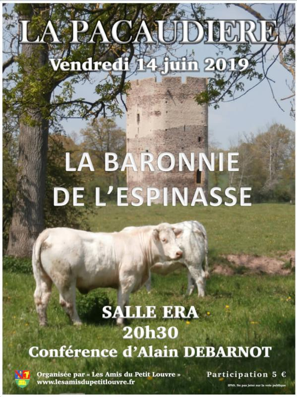 Affiche conference baronnie l espinasse
